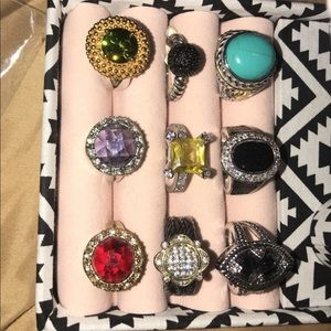 Jewelry - New!!! Never used!!! Pretty sparkly rings!!!